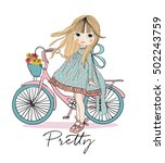 girl  girl vector cute girl ... | Shutterstock .eps vector #502243759
