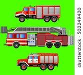 fire trucks  vector isolated... | Shutterstock .eps vector #502249420