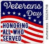 veterans day greeting card in... | Shutterstock .eps vector #502254748
