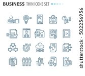 thin icons | Shutterstock .eps vector #502256956