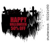 happy halloween sale banner   Shutterstock .eps vector #502261450