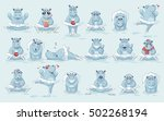 set vector stock illustrations... | Shutterstock .eps vector #502268194