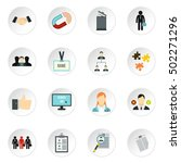 job search icons set. flat... | Shutterstock .eps vector #502271296