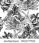 seamless with floral ornaments. ... | Shutterstock .eps vector #502277920