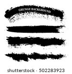 vector brush strokes.hand drawn ... | Shutterstock .eps vector #502283923