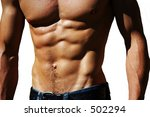 well defined naked male torso | Shutterstock . vector #502294
