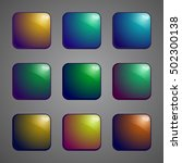 set of colored glass buttons....