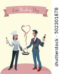 our weeding wedding invitation. ... | Shutterstock .eps vector #502301878