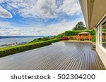 luxury house exterior with... | Shutterstock . vector #502304200