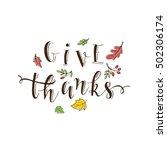 vector thanksgiving lettering.... | Shutterstock .eps vector #502306174