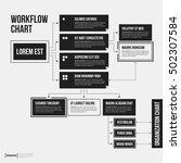 organization chart template... | Shutterstock .eps vector #502307584