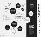 organization chart template... | Shutterstock .eps vector #502307593