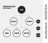organization chart template... | Shutterstock .eps vector #502307614