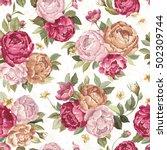 elegance retro seamless pattern ... | Shutterstock .eps vector #502309744
