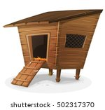 hen house illustration of a... | Shutterstock .eps vector #502317370