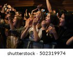 moscow 2 may 2016  excited... | Shutterstock . vector #502319974