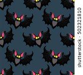 wallpaper with cartoon bat | Shutterstock .eps vector #502321810