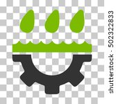 eco green and gray water gear...   Shutterstock .eps vector #502322833