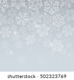 background with snowflakes | Shutterstock .eps vector #502323769