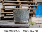 An Old Iron Bucket In The...