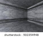 empty concrete room interior.... | Shutterstock . vector #502354948