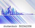 building and city illustration... | Shutterstock .eps vector #502362358