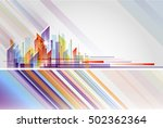 building and city illustration... | Shutterstock .eps vector #502362364