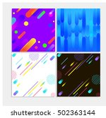 set of backgrounds with flat... | Shutterstock .eps vector #502363144