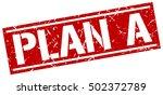 plan a. grunge vintage plan a... | Shutterstock .eps vector #502372789