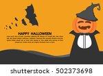 happy halloween pumpkin. | Shutterstock .eps vector #502373698