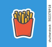 french fries icon fast food... | Shutterstock .eps vector #502378918