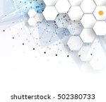 dna and medical and technology...   Shutterstock .eps vector #502380733