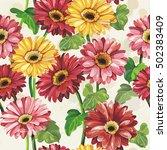 elegance seamless color gerbera ... | Shutterstock .eps vector #502383409