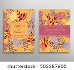 invitation or greeting card... | Shutterstock .eps vector #502387600