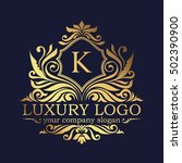 luxury logo | Shutterstock .eps vector #502390900