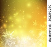snow fall with bokeh and...   Shutterstock .eps vector #502391290