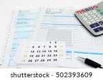 form filling  taxes in italy ... | Shutterstock . vector #502393609