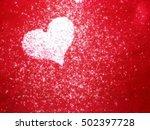 beautiful shiny heart on a...   Shutterstock . vector #502397728