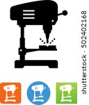 drill press with bit and... | Shutterstock .eps vector #502402168