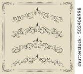 calligraphic design elements ... | Shutterstock .eps vector #502406998
