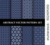 asian luxury vector patterns... | Shutterstock .eps vector #502409350