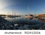 the marina with sailboats... | Shutterstock . vector #502412026