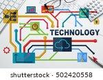 social media and network... | Shutterstock . vector #502420558