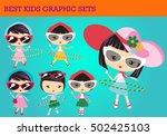 cute pinup girl  girl vector ... | Shutterstock .eps vector #502425103