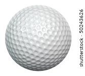A White Golf Ball Isolated On...