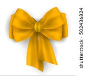 big bow romantic decoration for ... | Shutterstock .eps vector #502436824