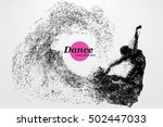 Silhouette Of A Dancing Girl O...