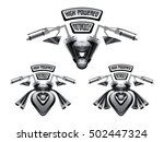 high powered motorcycle concept ...   Shutterstock .eps vector #502447324