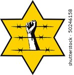 the symbol of the holocaust - stock vector