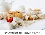 the morning family breakfast... | Shutterstock . vector #502474744
